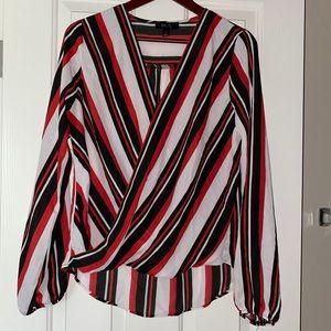 NWT BCX Women's Twist Front Long Sleeve Blouse